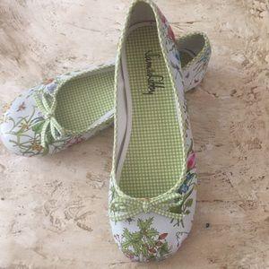 NWOT Sam & Libby Slkalis Floral Ballet Flats. 7.5M